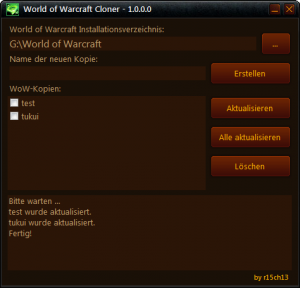 World of Warcraft Cloner